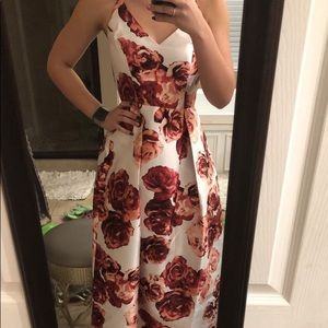 White Floral Prom Dress